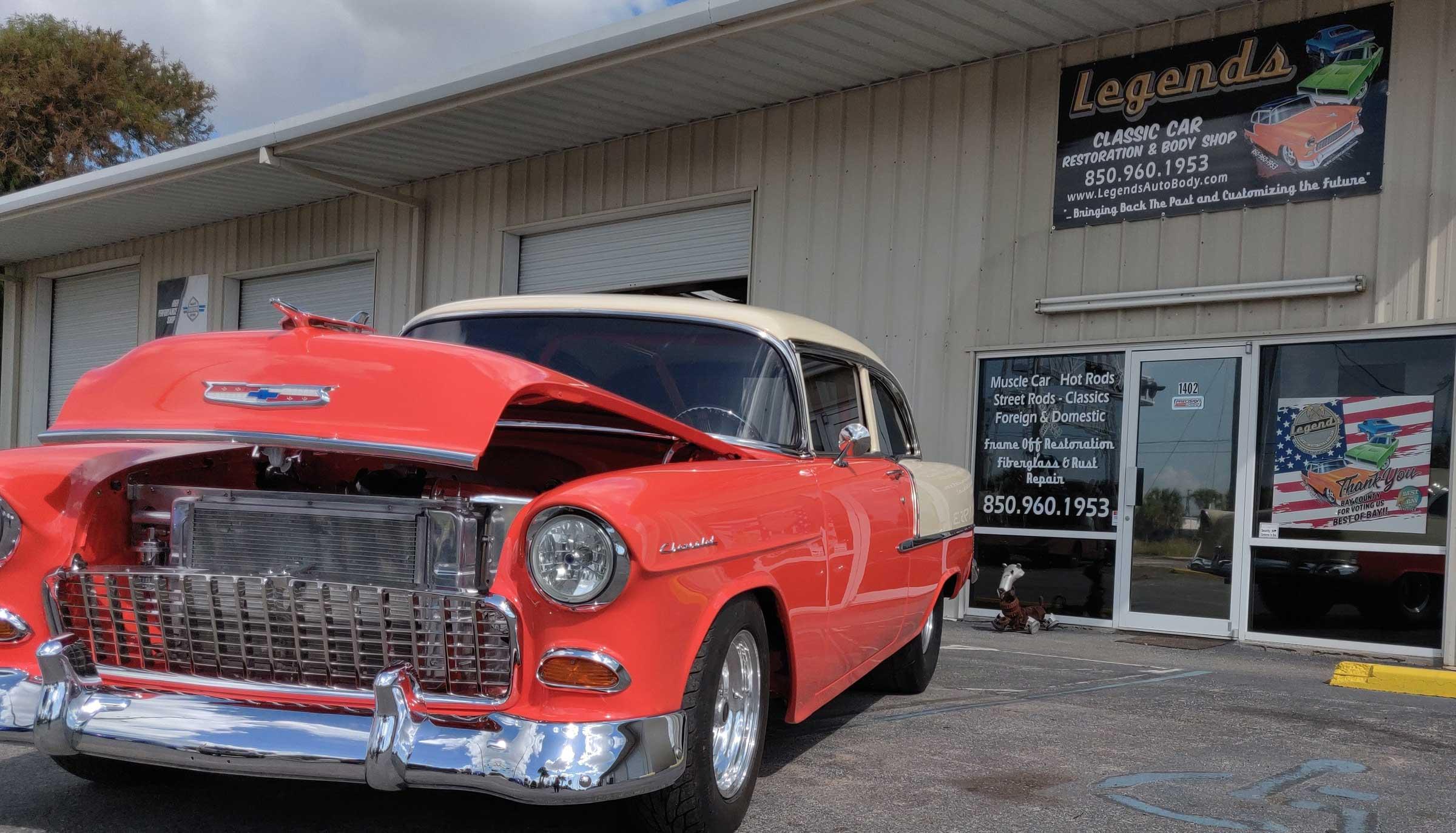 Classic car restoration in Panama City, FL - 55 Belaire